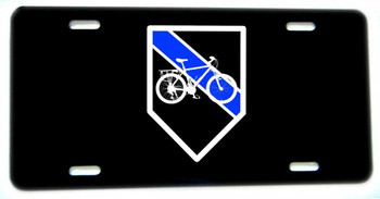Thin Blue Line Bicycle Bike Patrol Unit Aluminum License plate