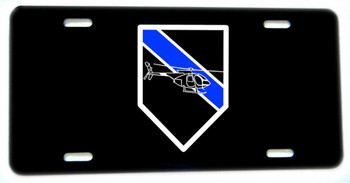 Thin Blue Line Aviation Helicoptor Unit Aluminum License plate