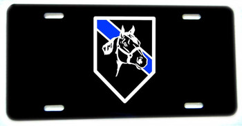 Thin Blue Line Horses Mounted Patrol Aluminum License plate