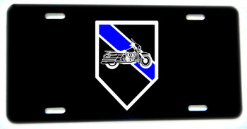 Thin Blue Line Motorcycles Motors Unit Aluminum License plate