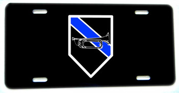 Thin Blue Line Tools of the Trade Bugle Aluminum License plate