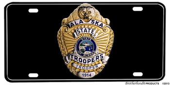 Alaska State Trooper Badge Aluminum License plate