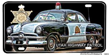 Utah Highway Patrol Car Badge Aluminum License plate