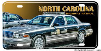 North Carolina Highway Patrol Crown Vic License plate