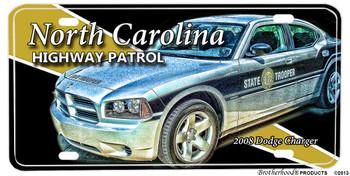 North Carolina Highway Patrol 2008 Dodge Charger License plate