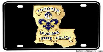 Lousiana State Police Trooper Badge Aluminum License plate