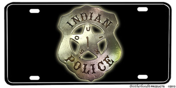 Souix Indian Police Badge Aluminum License plate