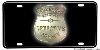 Pinkerton Nat. Detective Agency Badge Aluminum License plate