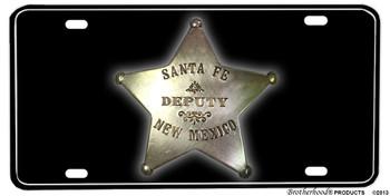 Santa Fe Deputy New Mexico Badge Aluminum License plate