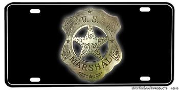 United Staes Marshall Badge Aluminum License plate