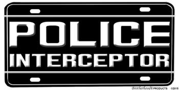 Ford Police Interceptor Aluminum License plate