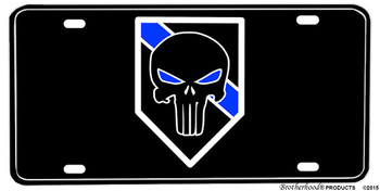 Thin Blue Line The Punisher Aluminum License plate