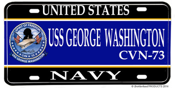 USS George Washington CVN-73 Aluminum License Plate