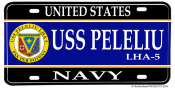 USS Peleliu LHA-5 Aluminum License Plate