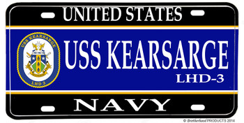 USS Kearsarge LHD-8 Aluminum License Plate