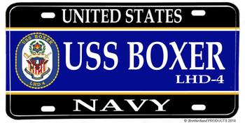 USS Boxer LHD-4 Aluminum License Plate