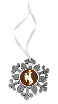Wyoming Cowboys - Snow Flake Ornament