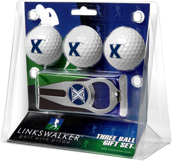 Xavier Musketeers - 3 Ball Gift Pack with Hat Trick Divot Tool