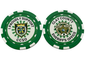 CLAY SHERIFF AGENCY POKER CHIP