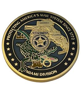 US POSTAL INSPECTION SERVICE MIAMI DIV POLICE COIN RARE
