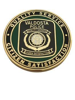 VALDOSTA   POLICE GA 3 LOGO COIN