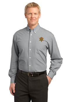 Miami Sheriff Port Authority® Plaid Pattern Easy Care Shirt