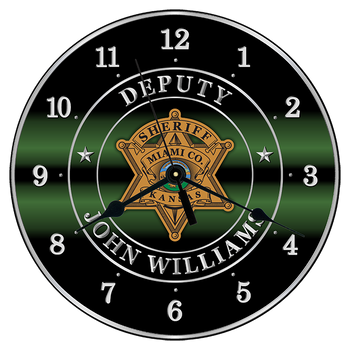 """Miami Sheriff 10"""" CLOCK"""
