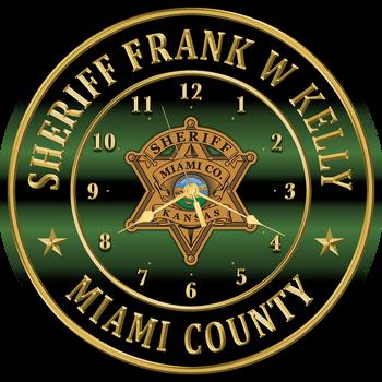 """Miami Sheriff 15"""" CLOCK"""