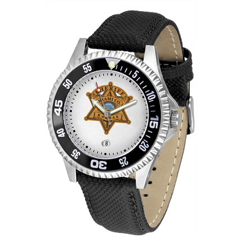Miami Sheriff Competitor Mens Leather Watch