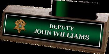 Miami Sheriff WALNUT BUSINESS CARD HOLDER