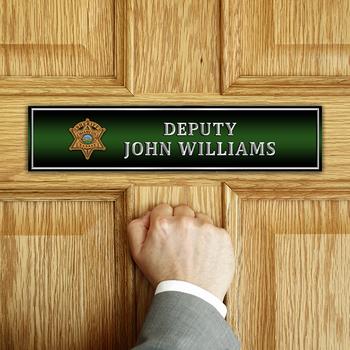 Miami Sheriff DOOR NAME PLATE