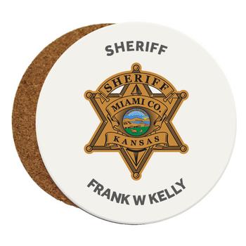 Miami Sheriff SANDSTONE COASTER - ROUND 4 PCS