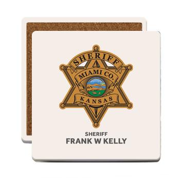 Miami Sheriff SANDSTONE COASTER - SQUARE 4 PCS