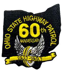 OHIO STATE HIGHWAY PATROL 60TH LASER CUT 1993 PATCH RARE