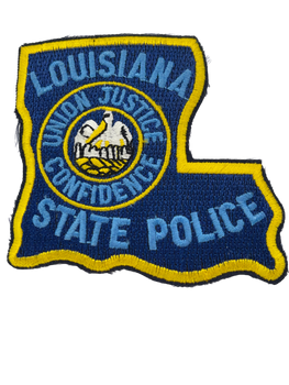 LOUISIANA STATE POLICE LASER CUT PATCH