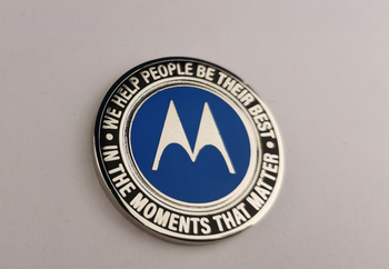 MOTOROLA ADVANCE THE LIFELINE COIN