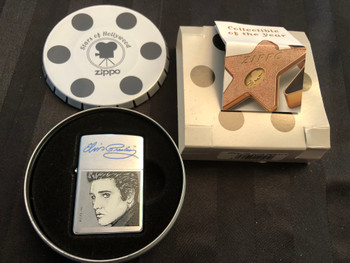 RARE ZIPPO STARS OF HOLLYWOOD ELVIS LIGHTER