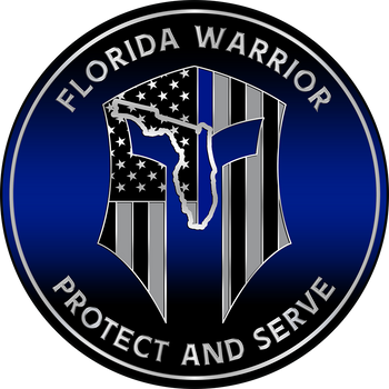 FLORIDA WARRIOR RED LINE FIRE PLAQUE