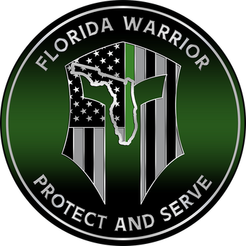 FLORIDA WARRIOR GREEN LINE PLAQUE