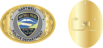 HARTWELL POLICE GEORGIA BELT BUCKLE