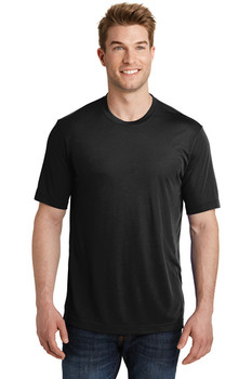 Moisture-Wicking Performance Black T-Shirt with Emblem