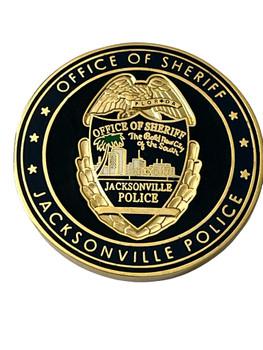 HEART OF JSO SHERIFF JACKSONVILLE  POLICE FL COIN