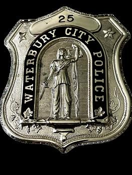 WATERBURY CITY POLICE CT BADGE