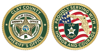 """Clay Sheriff Agency 2.25"""" Coin"""