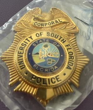 UNIV. OF SOUTH FLORIDA POLICE CORPORAL BADGE