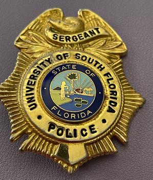 UNIV. OF SOUTH FLORIDA POLICE SERGEANT BADGE