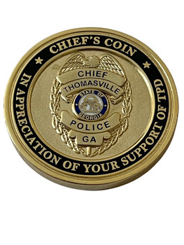 THOMASVILLE GA POLICE COIN
