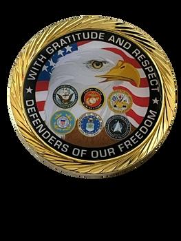 MILITARY GRATITUDE COIN