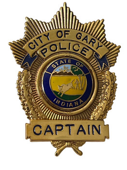 GARY POLICE CAPTAIN INDIANA BADGE