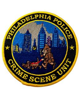 PHILADELPHIA POLICE  CRIME SCENE UNIT PATCH VERY RARE